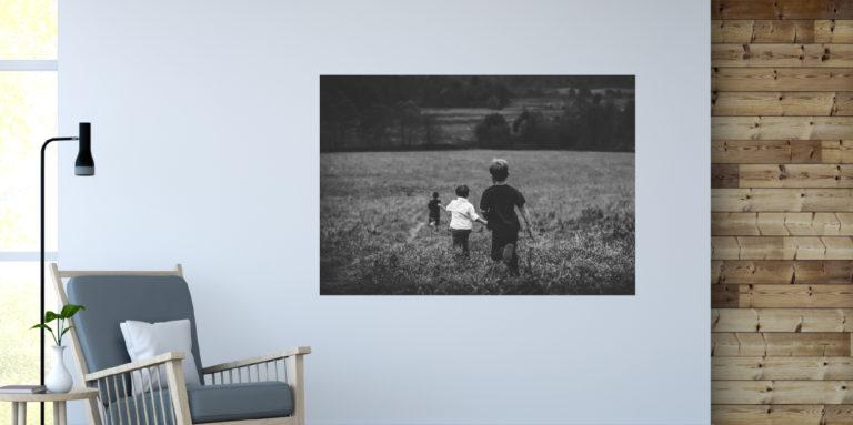 Dzieci na łące fotoobraz
