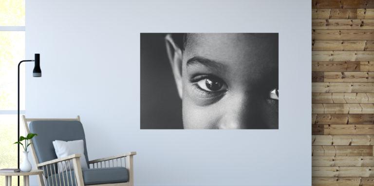 Dzieci oczy fotoobraz
