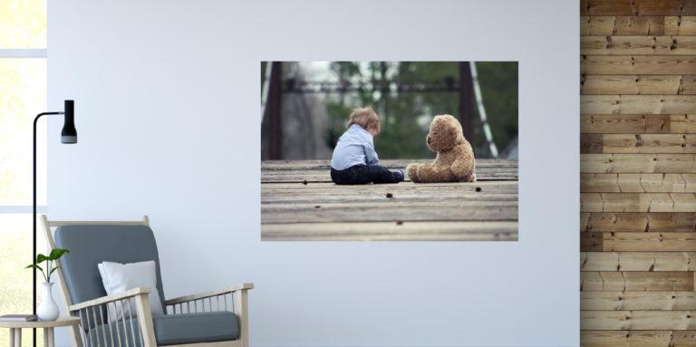 Dziecko z misiem fotoobraz