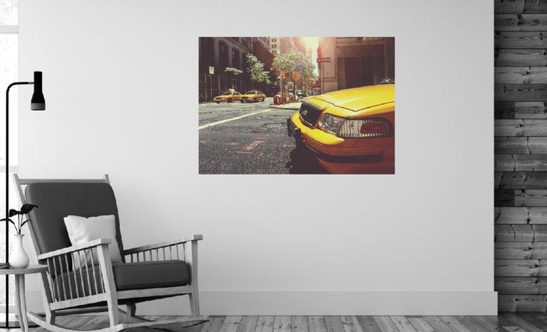 Miasto taksówki fotoobraz