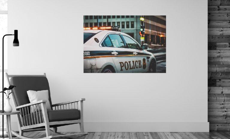 Samochód policja fotoobraz