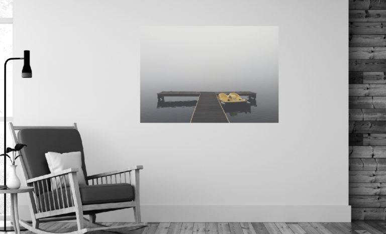 Pomost mgła fotoobraz