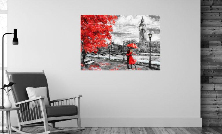 Obraz BigBen malarstwo fotoobraz