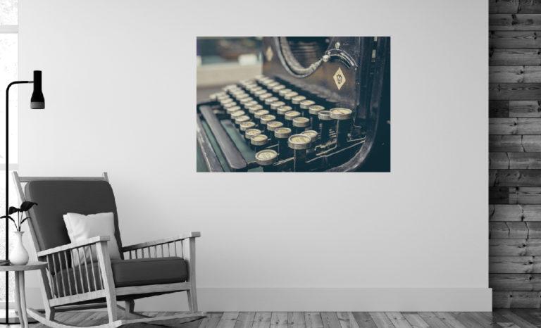 Maszyna do pisania fotoobraz
