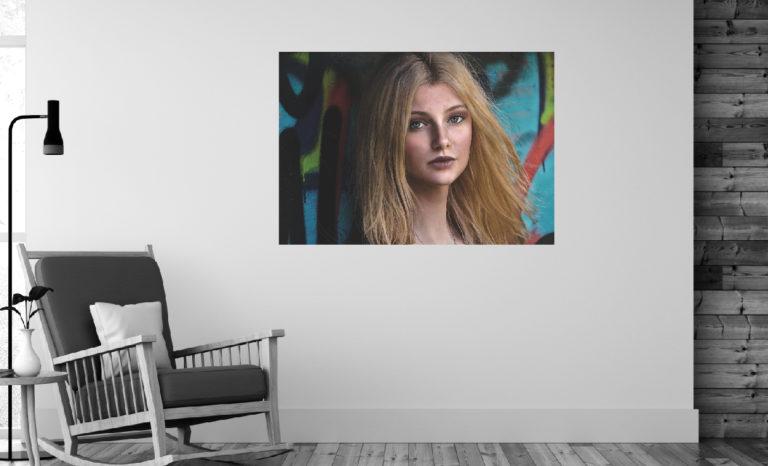 Kobieta twarz fotoobraz