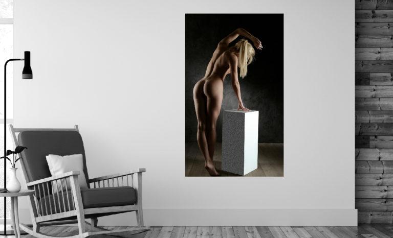 Kobieta nago fotoobraz