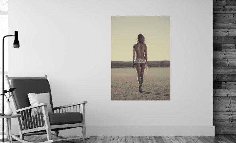 Kobieta plaża fotoobraz