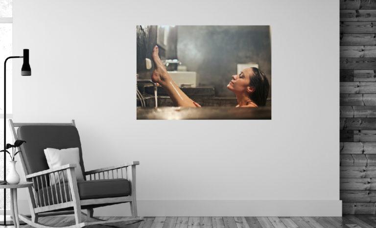 Kobieta kąpiel fotoobraz