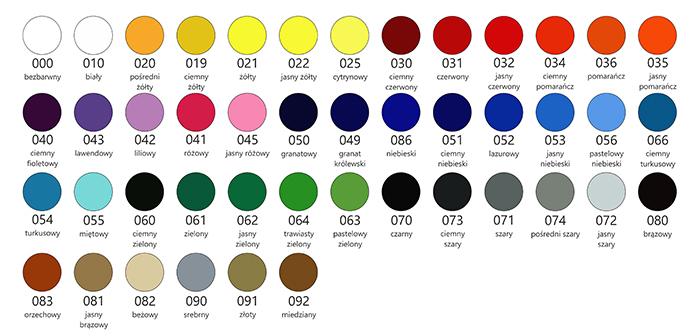 Kolory folii ploterowej