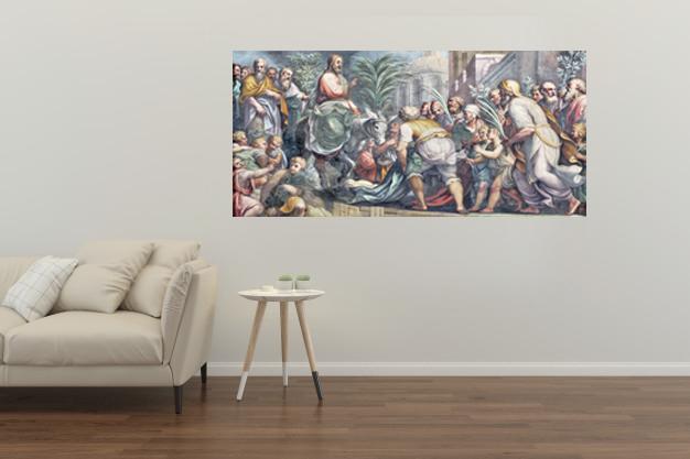 Jezus w Jerozolimie fotoobraz