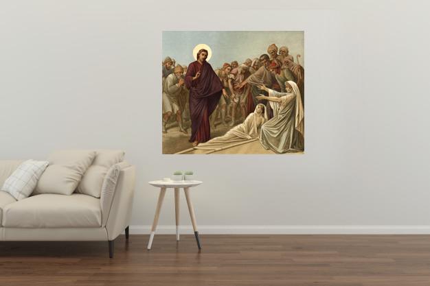 Jezus podnosi syna wdowy fotoobraz
