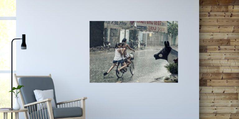 Dzieci na rowerze fotoobraz