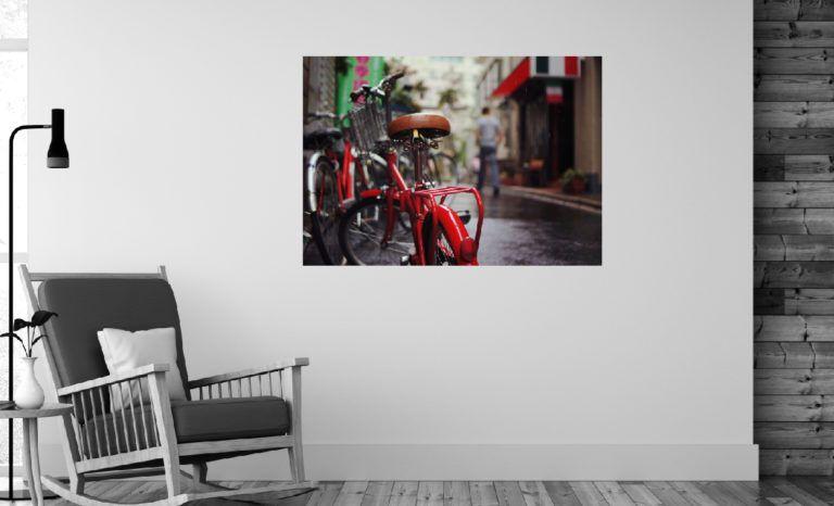 Czerwony rower fotoobraz